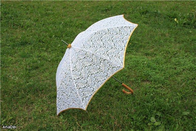 Зонт из гипюра своими руками 11